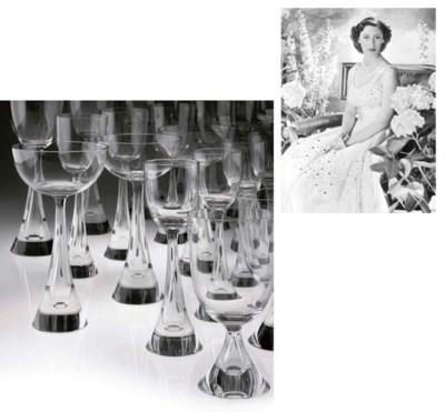 A CZECHOSLOVAKIAN GLASS PART T