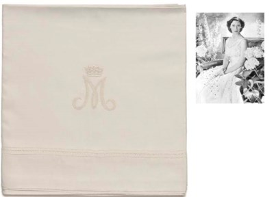 TWO LINEN-DAMASK TABLECLOTHS