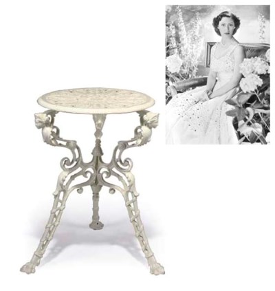 A Mid-Victorian white-painted