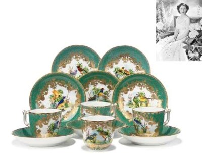 A SET OF TWELVE HEREND CUPS AN