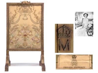 Queen Mary's firescreen A gilt