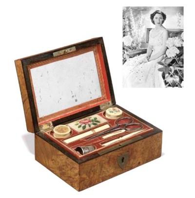 A Charles X pollard ash sewing