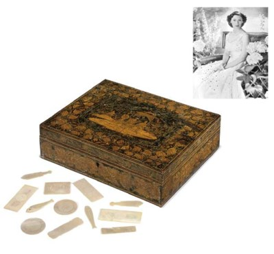 A Regency penwork games box