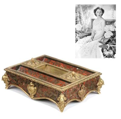 A Napoleon III scarlet-boulle