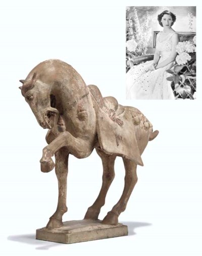 A Pottery model of a Tang Hors