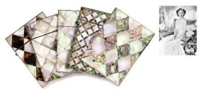 SEVEN VARIOUS MOTHER-OF-PEARL