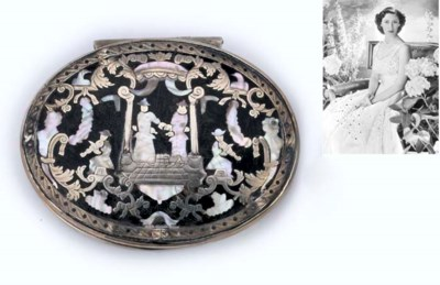 A GEORGE I SILVER-MOUNTED TORT
