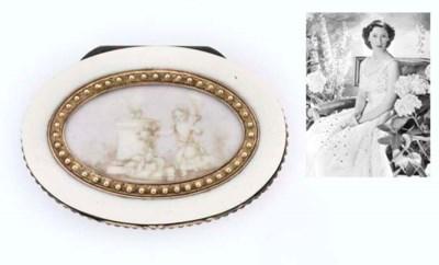 A LOUIS XVI SILVER-GILT-MOUNTE