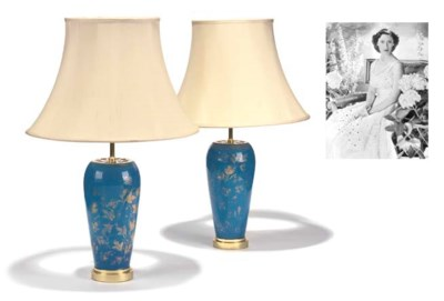 A PAIR OF BLUE-OPALINE AND GIL