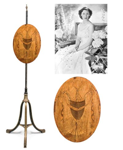 A George III mahogany, satinwo