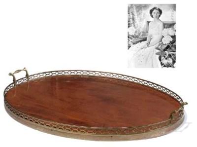 An Edwardian mahogany and bras