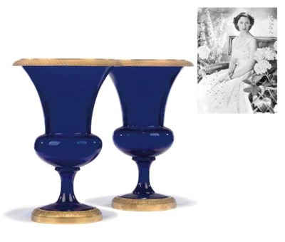 A PAIR OF ORMOLU-MOUNTED BLUE