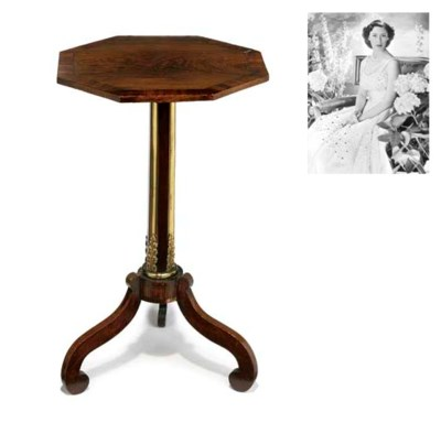 A Regency rosewood and brass-m