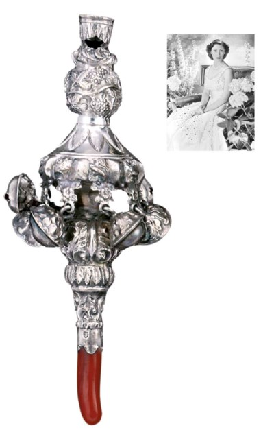 A GEORGE IV SILVER-MOUNTED COR