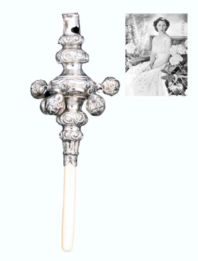 A VICTORIAN SILVER AND IVORY C
