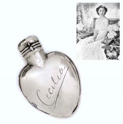 A VICTORIAN SILVER SCENT-FLASK