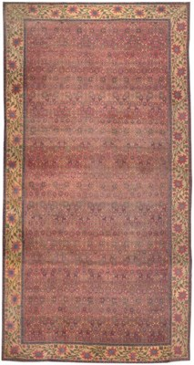 A LARGE INDIAN CARPET