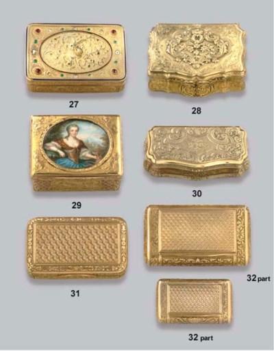A SWISS GEM-SET GOLD SNUFF-BOX
