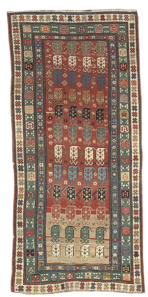 A CAUCASIAN LONG RUG, POSSIBLY