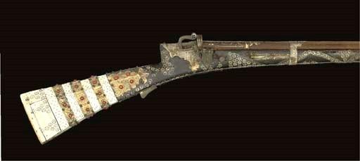 A RARE TURKISH MATCHLOCK GUN