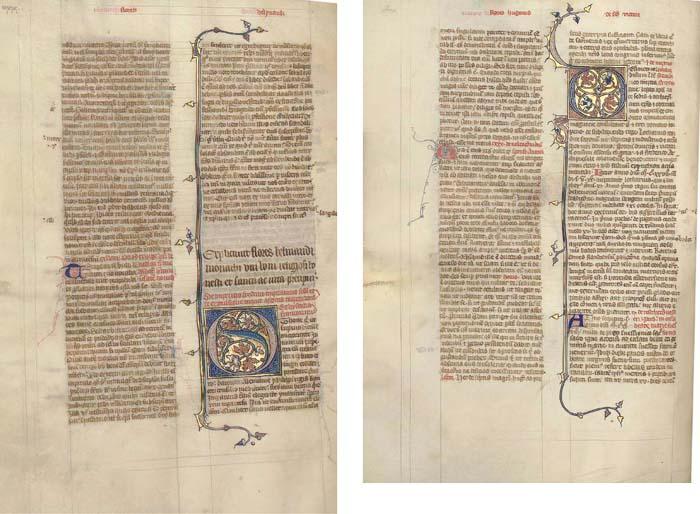 VINCENT OF BEAUVAIS (c.1190-1264), Speculum historiale, vol. IV, in Latin, ILLUMINATED MANUSCRIPT ON VELLUM