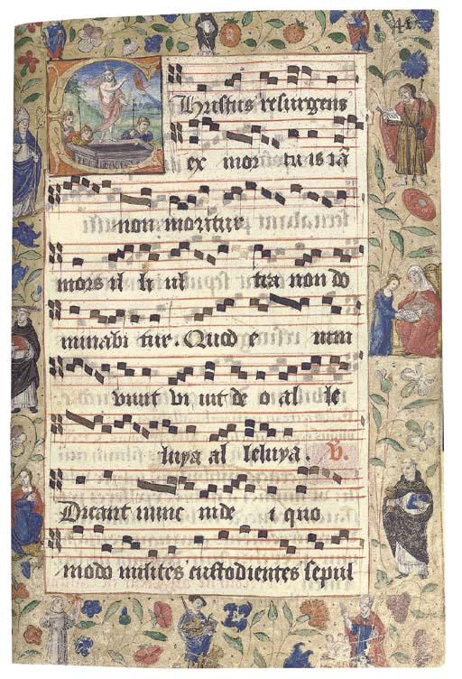 PROCESSIONAL, for the use of Dominican nuns, in Latin and French, ILLUMINATED MANUSCRIPT ON VELLUM