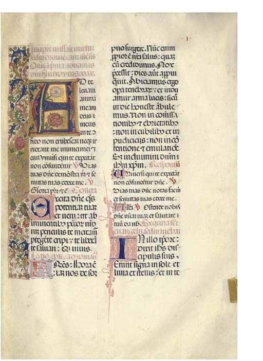 NOTED MISSAL, Carthusian use,