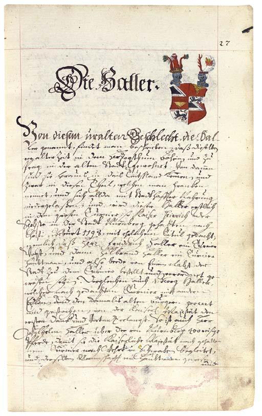 CITY OF NUREMBERG. Manuscript
