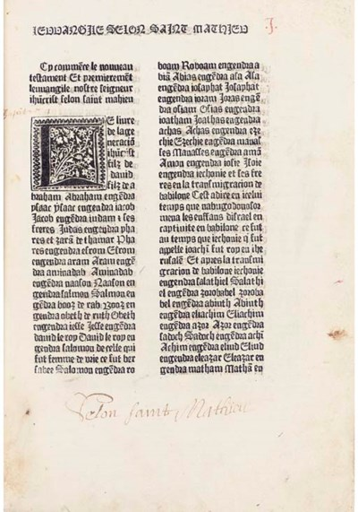 BIBLE, New Testament, in Frenc
