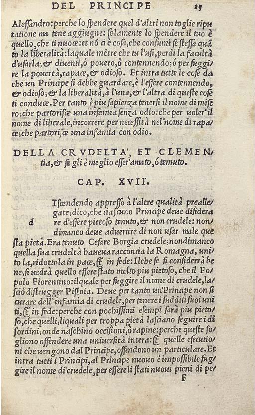 MACHIAVELLI, Niccolo (1469-152