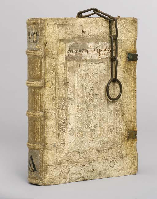 THOMAS AQUINAS (c.1225-1274). Super Epistolas Pauli Commentaria. Paris: Jean Petit for Nicolas Savetier, 11 September 1526.