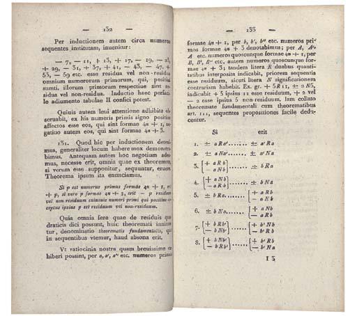 GAUSS, Carl Friedrich (1777-1855). Disquisitiones arithmeticae. Leipzig: Gerh[ard] Fleischer, 1801.