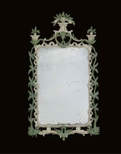 A GEORGE III GREEN AND WHITE-P