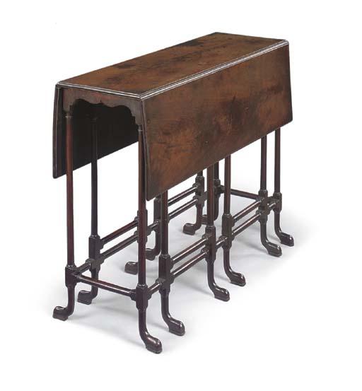 A GEORGE III MAHOGANY SPIDER GATE-LEG DROP-LEAF TABLE