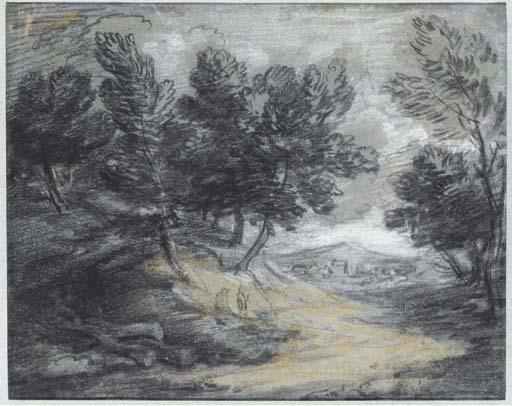 Thomas Gainsborough, R A  (1727-1788)   A track through a