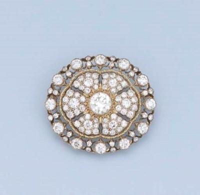 A DIAMOND BROOCH, BY BUCCELLAT