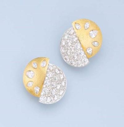 A PAIR OF IMPRESSIVE DIAMOND E