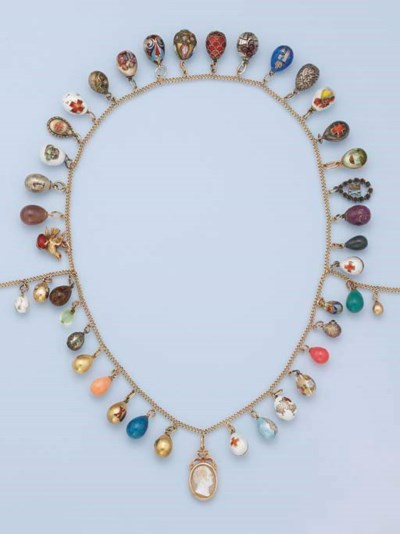 A RUSSIAN EGG NECKLACE