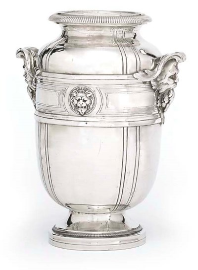 A FRENCH SILVER WINE-COOLER