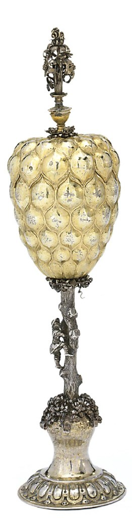 A GERMAN PARCEL-GILT SILVER PI