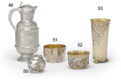 A VICTORIAN SILVER JAR AND COV