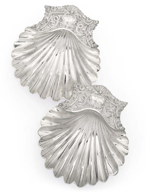 A PAIR OF WILLIAM IV SILVER BUTTER-DISHES