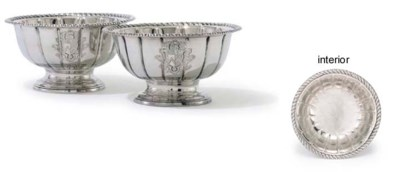 A PAIR OF GEORGE II SILVER BOW