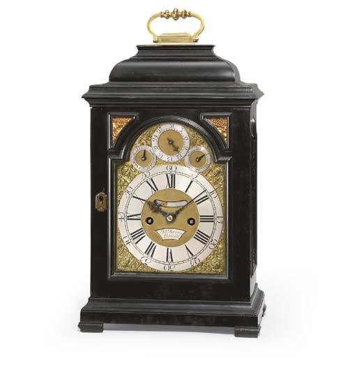 A George II ebony striking table clock , JOHN BERRY ...