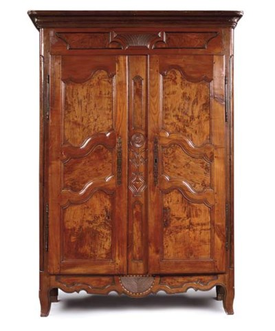 A LOUIS XV FRUITWOOD AND ASH A