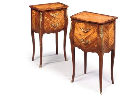 A PAIR OF FRENCH KINGWOOD, TUL