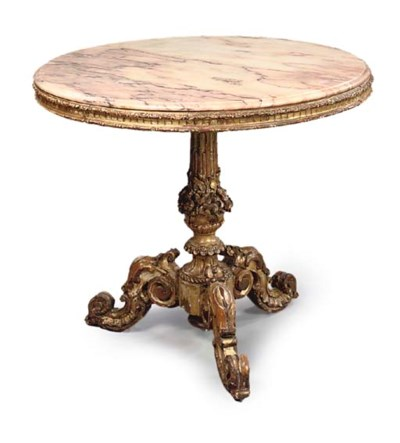 A SOUTH ITALIAN GILTWOOD CIRCU