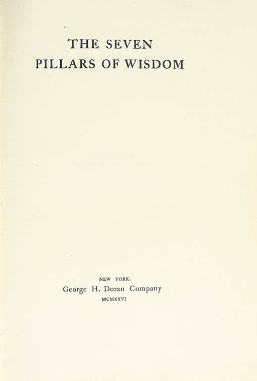 [THOMAS EDWARD LAWRENCE (1888-