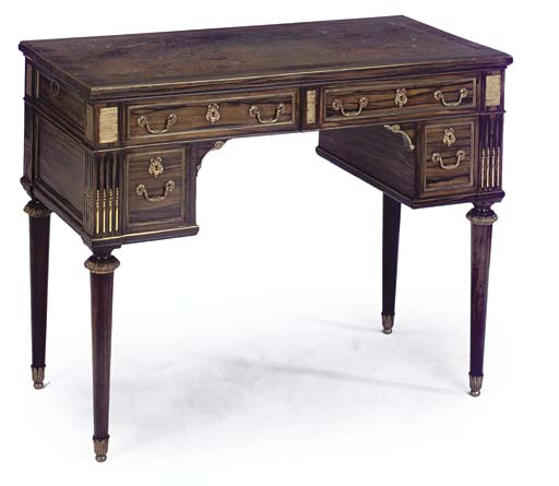An English ormolu-mounted coromandel writing-desk