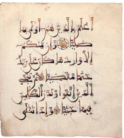 SIX PAGES FROM A MAGHRIBI QUR'